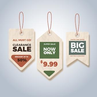 Banners de vendas vintage
