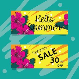 Banners de verão