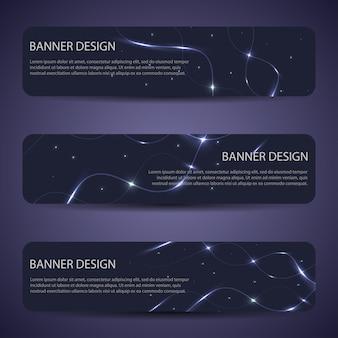 Banners de vetor abstrato