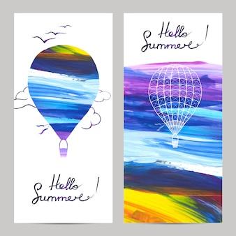 Banners de viagens aéreas