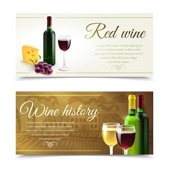Banners de vinho com queijo