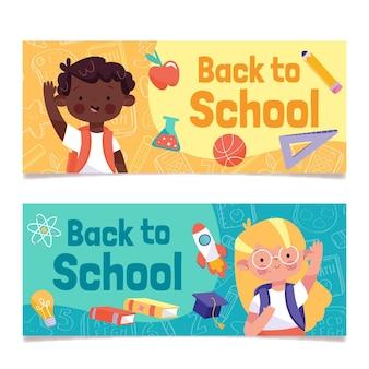 Banners de volta às aulas com foto
