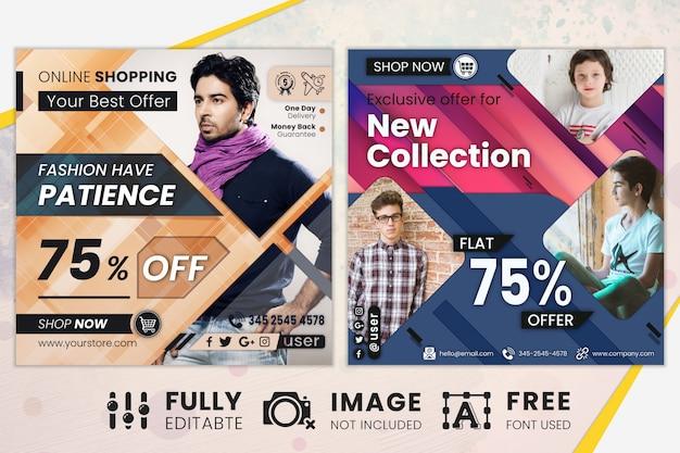 Banners de web de mídia social de venda de oferta especial
