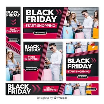Banners de web de sexta-feira negra