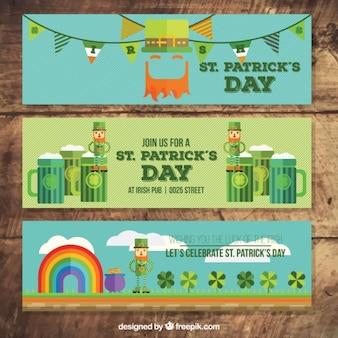 Banners dia de saint patrick engraçado