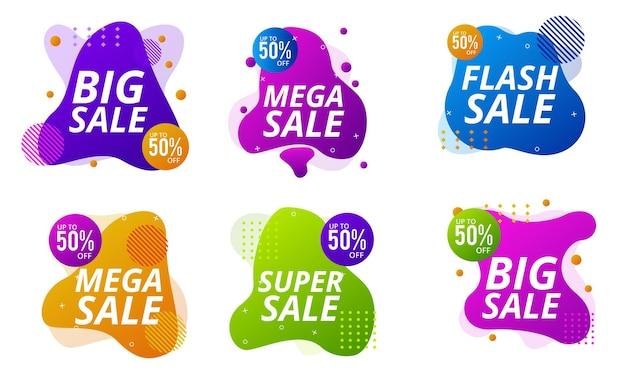 Banners dinâmicos modernos fluidos para venda em celulares