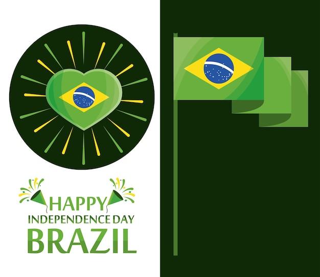 Banners do dia da independência do brasil
