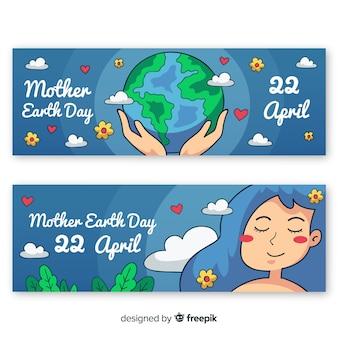 Banners do dia da mãe terra