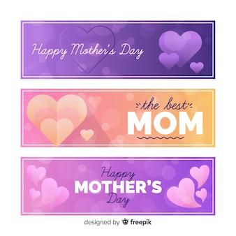 Banners do dia da mãe turva
