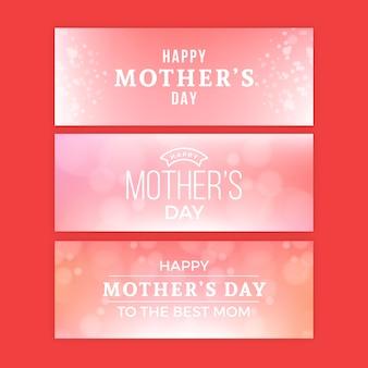 Banners do dia das mães turva