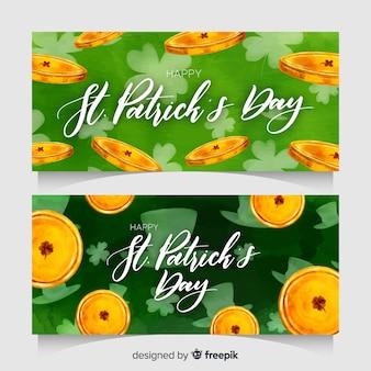 Banners do dia de são patrício