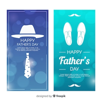 Banners do dia do pai realista