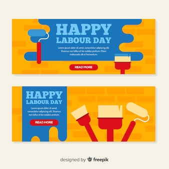 Banners do dia do trabalho
