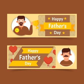 Banners do dia dos pais com o pai