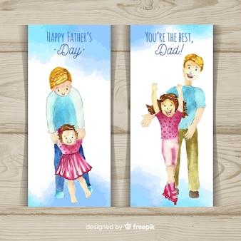 Banners do dia dos pais feliz