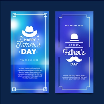 Banners do dia dos pais turva