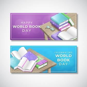Banners do dia mundial do livro