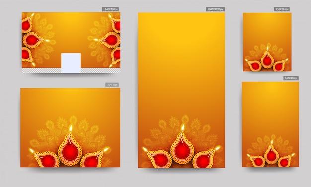 Banners do festival de diwali.