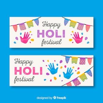 Banners do festival de holi