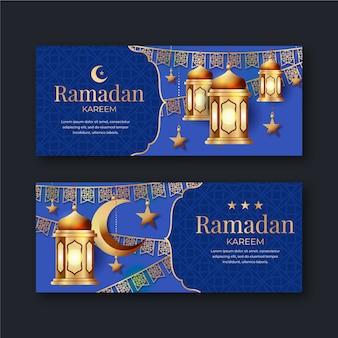 Banners do ramadã realista