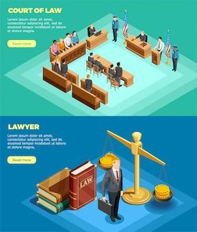 Banners do tribunal de direito