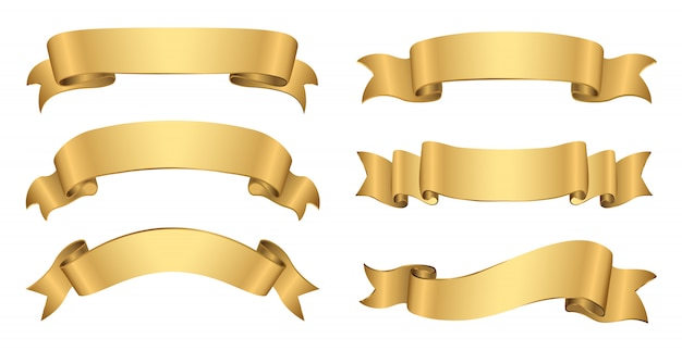 Banners dourados retrô