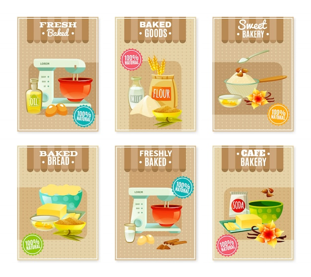 Banners e cartões de cozimento