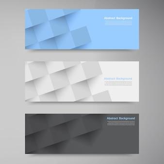 Banners e quadrados vetoriais. Conjunto de cores