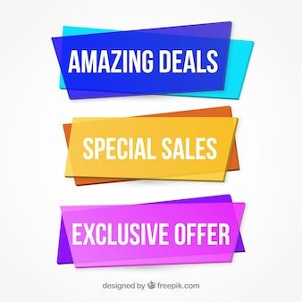 Banners especiais de ofertas especiais