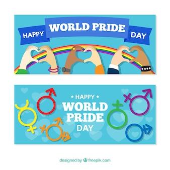 Banners felizes do dia do orgulho