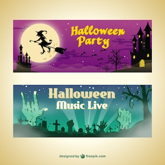 Banners festa de halloween