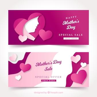 Banners fofos do dia das mães