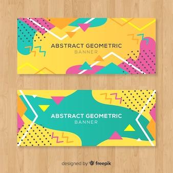 Banners geométricas abstratas
