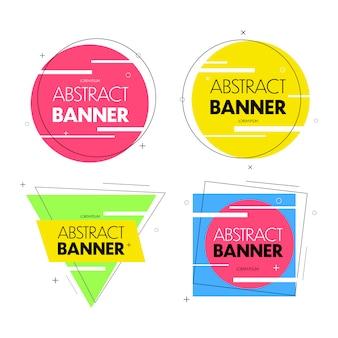 Banners geométricos com diferentes formas
