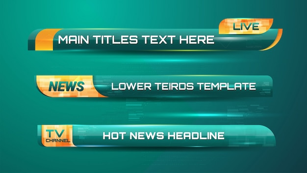 Banners gráficos de notícias