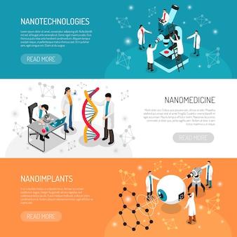 Banners horizontais da nano technologies