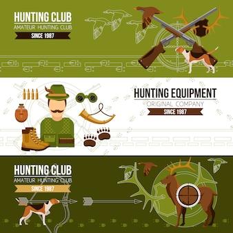 Banners horizontais de caça