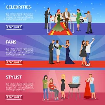 Banners horizontais de celebridades