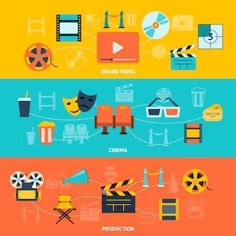 Banners horizontais de cinema configurados