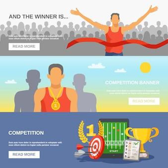 Banners horizontais de competição
