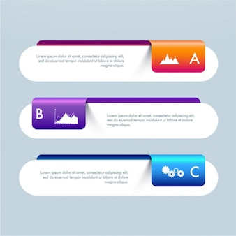 Banners infográfico geométricas para negócios