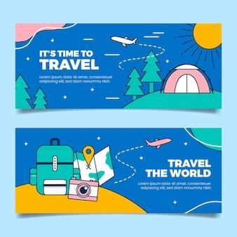 Banners lineares e planos de aventura