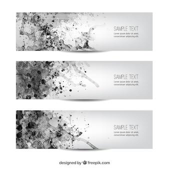 Banners minimalistas aquarela