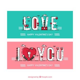 Banners minimalistas para dia dos namorados