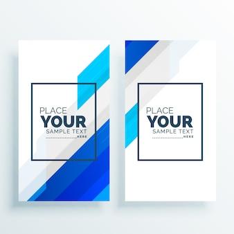 Banners modernos de negócios criados em segundo plano