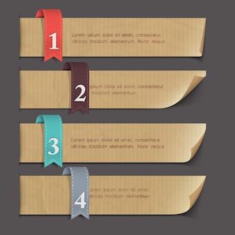 Banners numerados em papel
