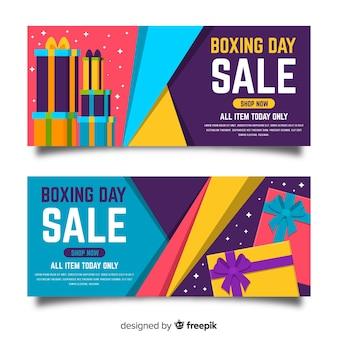 Banners on-line de venda de dia de boxe