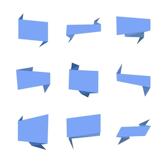 Banners ou rótulo, design de papel para web, etiquetas, tags