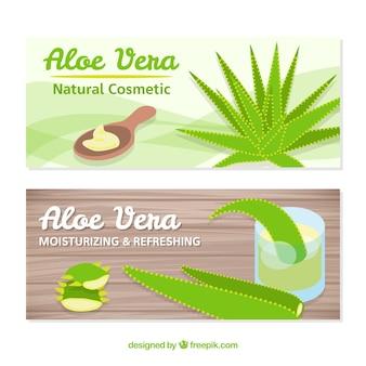 Banners para cosméticos de aloe vera