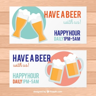 Banners para o happy hour